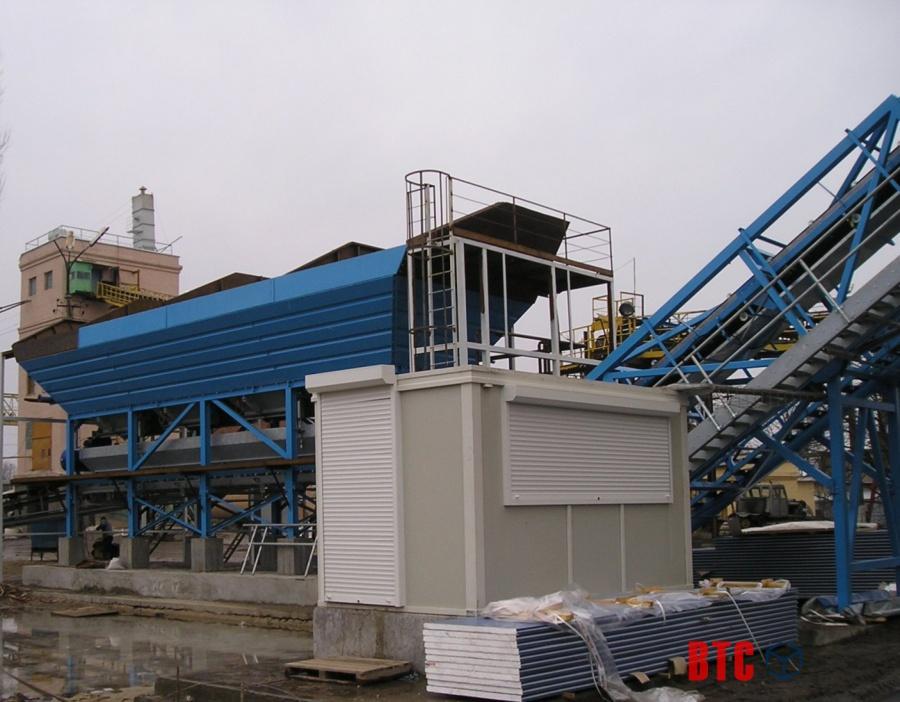 Подача и складирование инертных материалов